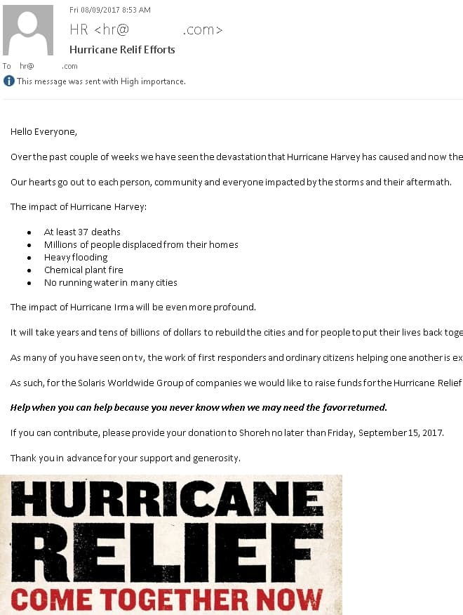 Canadian Pharmacy World Hurricane Relief Efforts